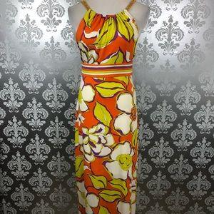 Trina Turk Multicolor Sleeveless Maxi Dress Size 2
